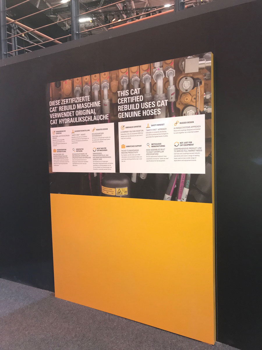 Caterpillar trade show display