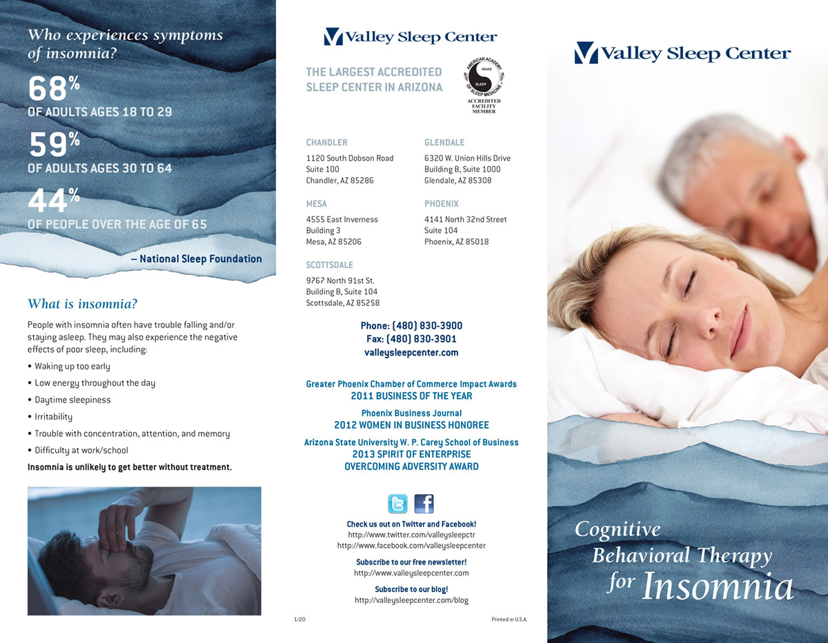 Valley Sleep Center Cognitive Behavioral Therapy Brochure