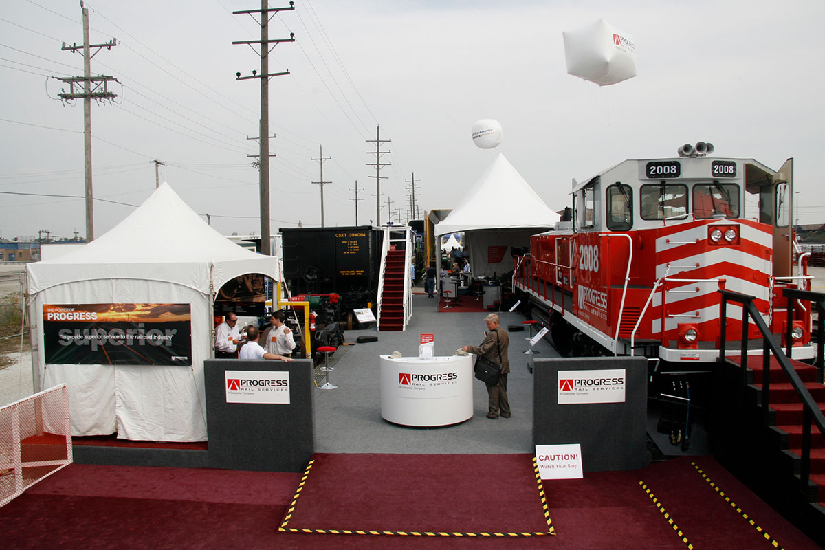 Progress Rail trade show booth