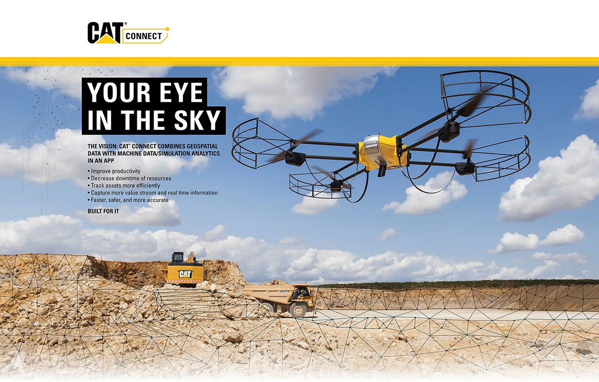 Caterpillar drone ad